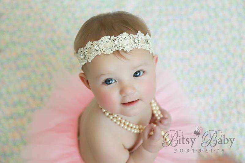 8-month photo session, Newborn Baby Photographer,  Athens GA,, tutu, pearls