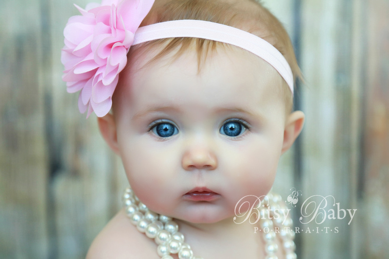 6-month old Baby with pearls