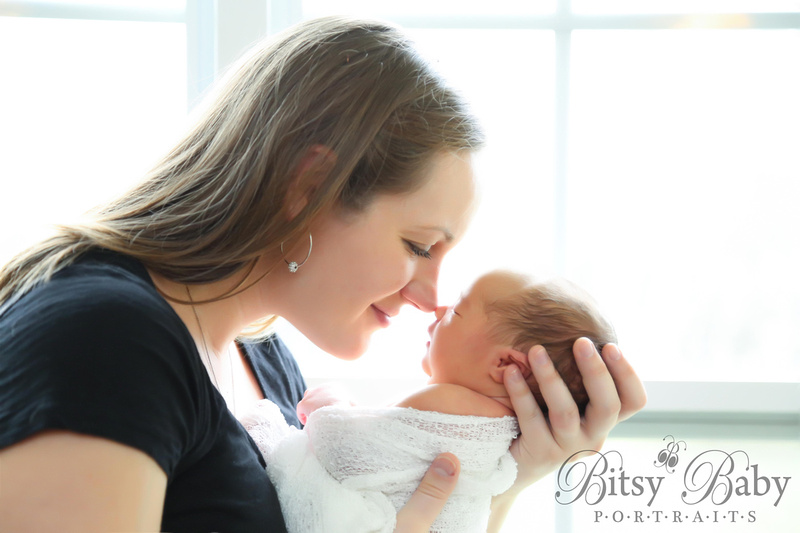 Mommy and baby nose-to-nose
