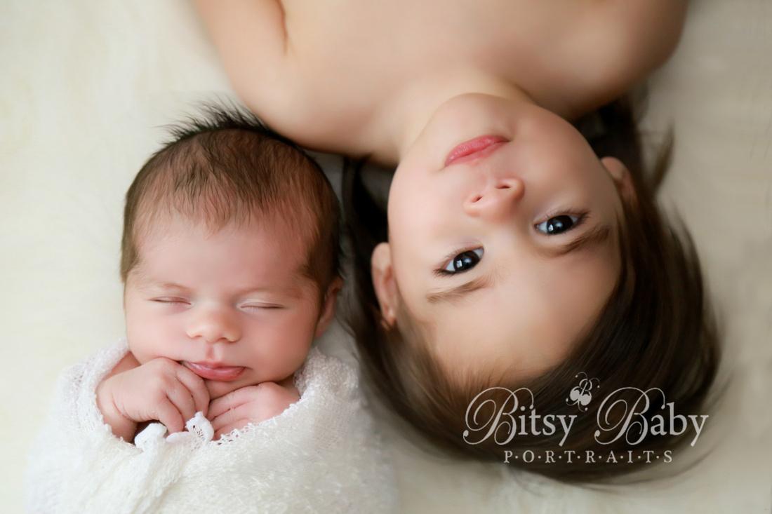 newborn photography, baby, big sister