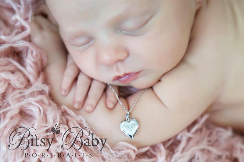"""Athens GA"" ""Newborn Photographer"" Baby with a locket"