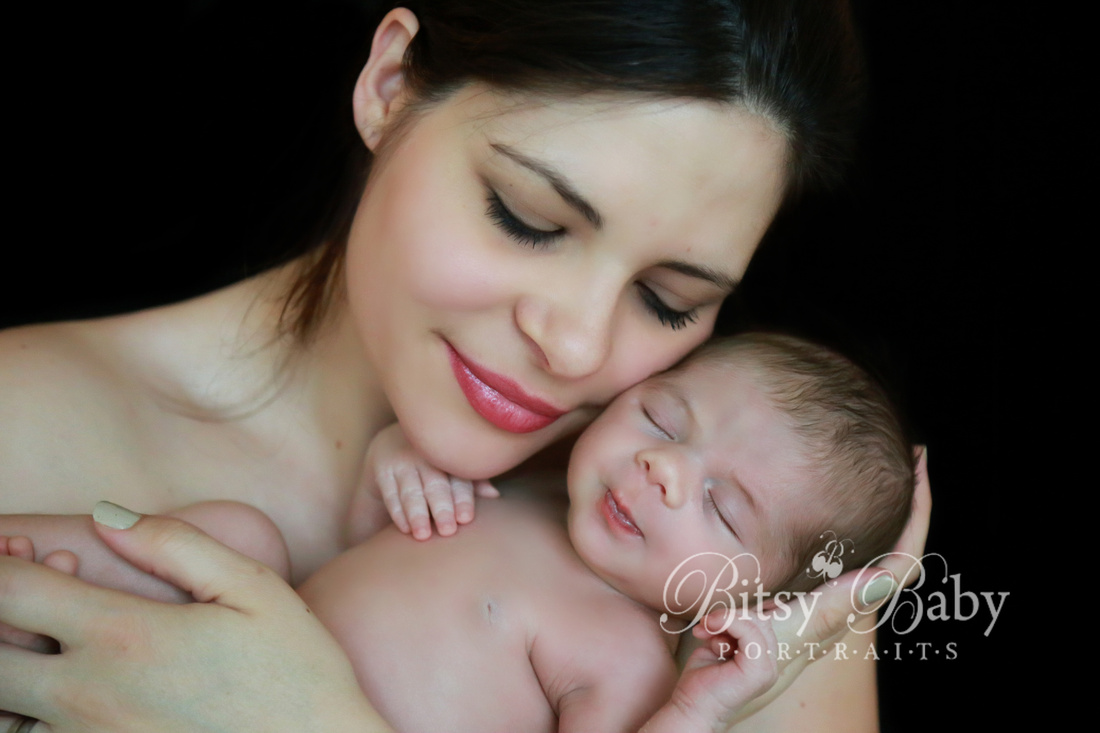 newborn photography, mother and baby