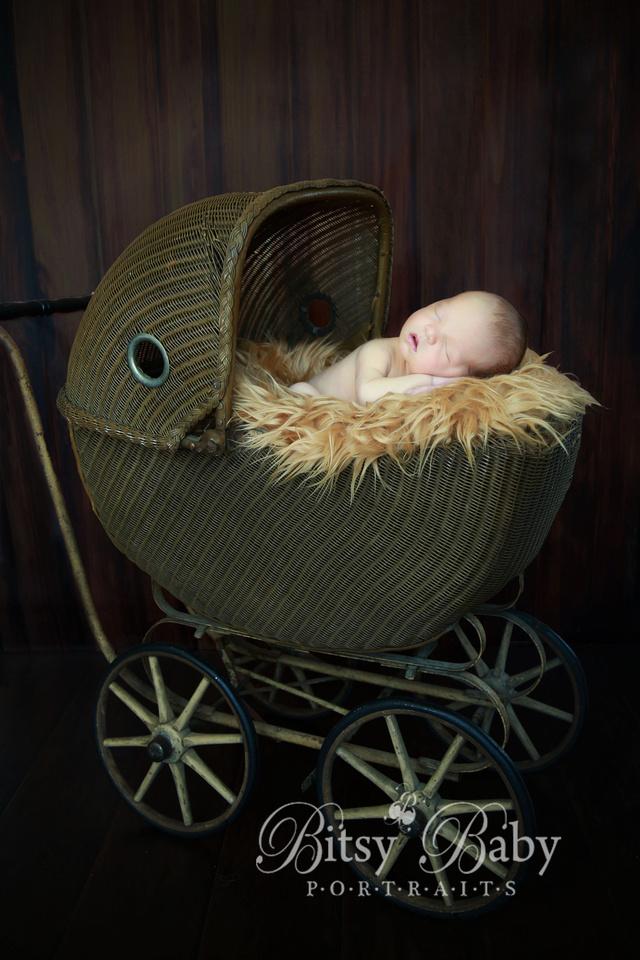 newborn photographer, baby photographer, Athens GA, vintage stroller