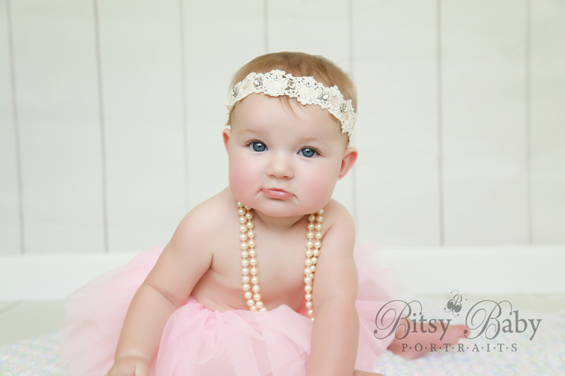8-month photo session, Newborn Baby Photographer,  Athens GA,, tutu, pearls