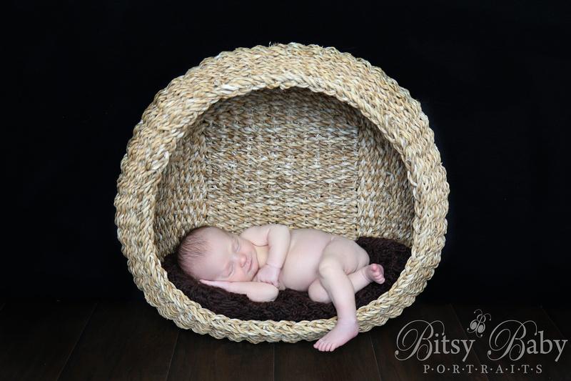 "Baby in a basket ""Newborn Photographer"" ""Athens GA"""
