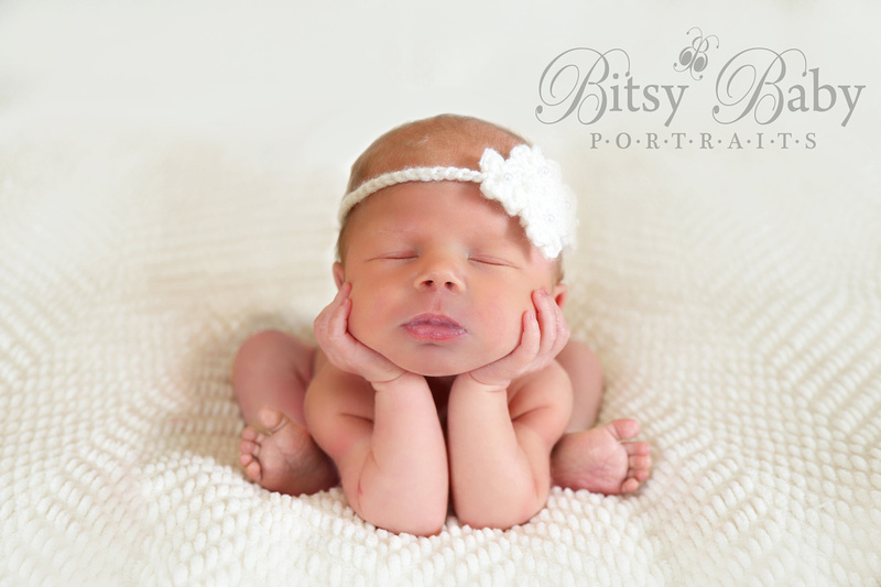 """newborn in the froggy pose"""