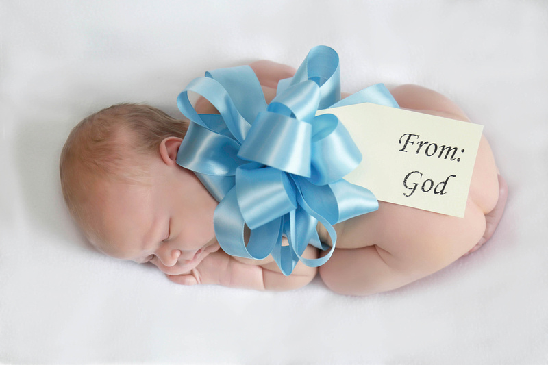 "newborn, baby, photographer, ""from God"" ""Gift from God"" tag"