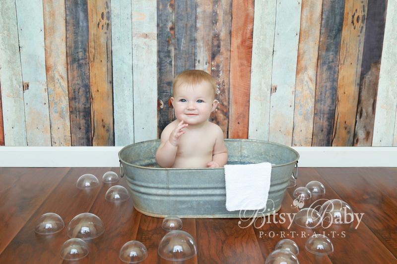 8-month photo session, Newborn Baby Photographer,  Athens GA,, Wash tub, bubbles