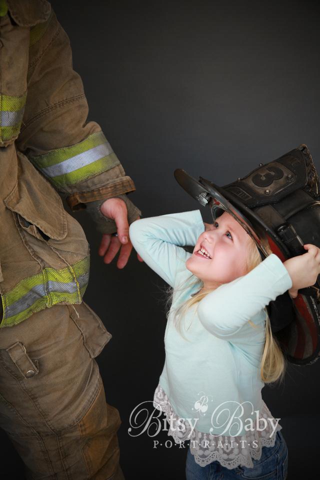 "girl fireman's gear ""fire fighter"" hat photographer photography"